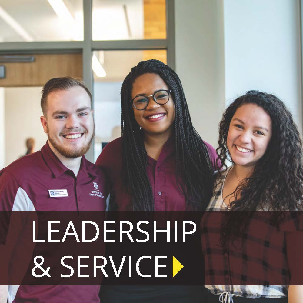 Click Here to Learn about Leadership and Service
