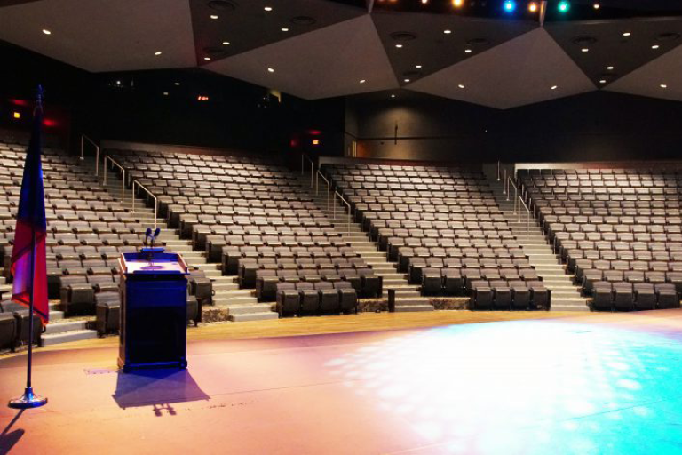 Picture of the newly renovated Rudder Theater