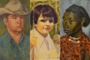 """Image of artist portraits from """"Eye of the Beholder"""" exhibit"""