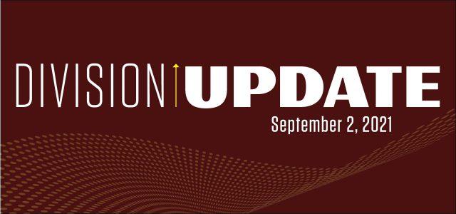 Division Update Header Sept. 2, 2021